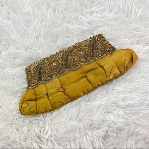 Chan Luu Baguette Beaded Silk Bag Purse